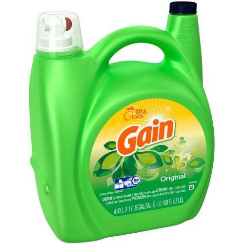 Gain Original Scent Liquid Laundry Detergent, 150 Fluid Ounce - 4 per case.