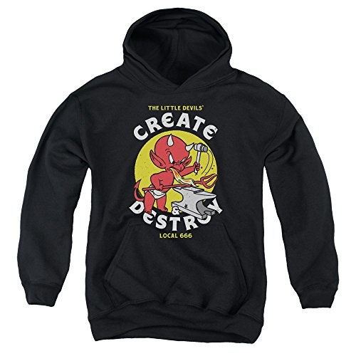 Hot Stuff Local Devils Unisex Youth Pull-Over Hoodie for Boys and (Devil Kids Hoodie)