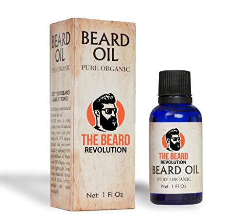 The Beard Revolution Pure Organic Beard Oil | Premium Unscented Beard Oil Packed With Vitamins & Natural Herbs |Suitable for All Beard Types | Inverted Dropper Technology | Prevents Pre-mature Greying All Natural Herb