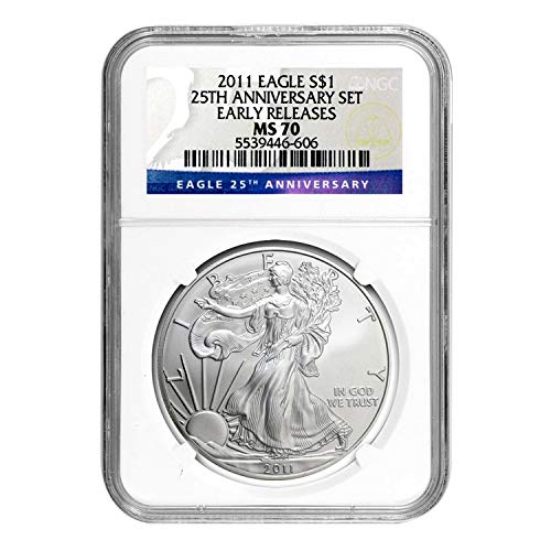 2011 Silver Eagle Early Releases $1 MS-70 NGC