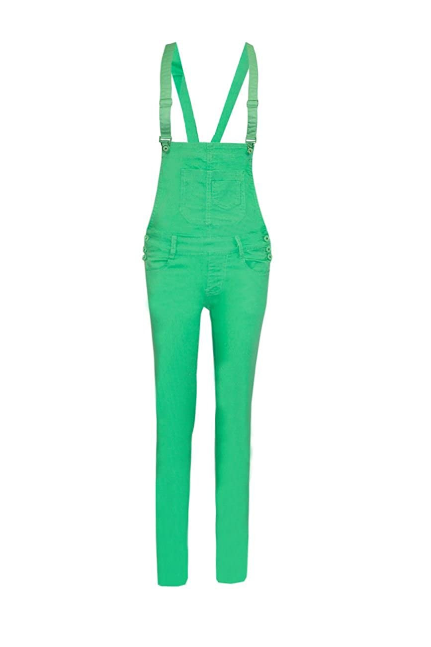 67c35f5559 Women's Dungaree Coloured Denim Jeans Pinafore Jumpsuit Overall All In One