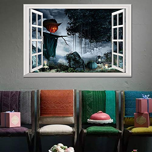 OTTATAT Wall Stickers for Kids 2019, Halloween Witch Background Decorated Living Room Bedroom s Grim Rea Easy to Peel Independence Day Children Room Gift for Friends Clearance