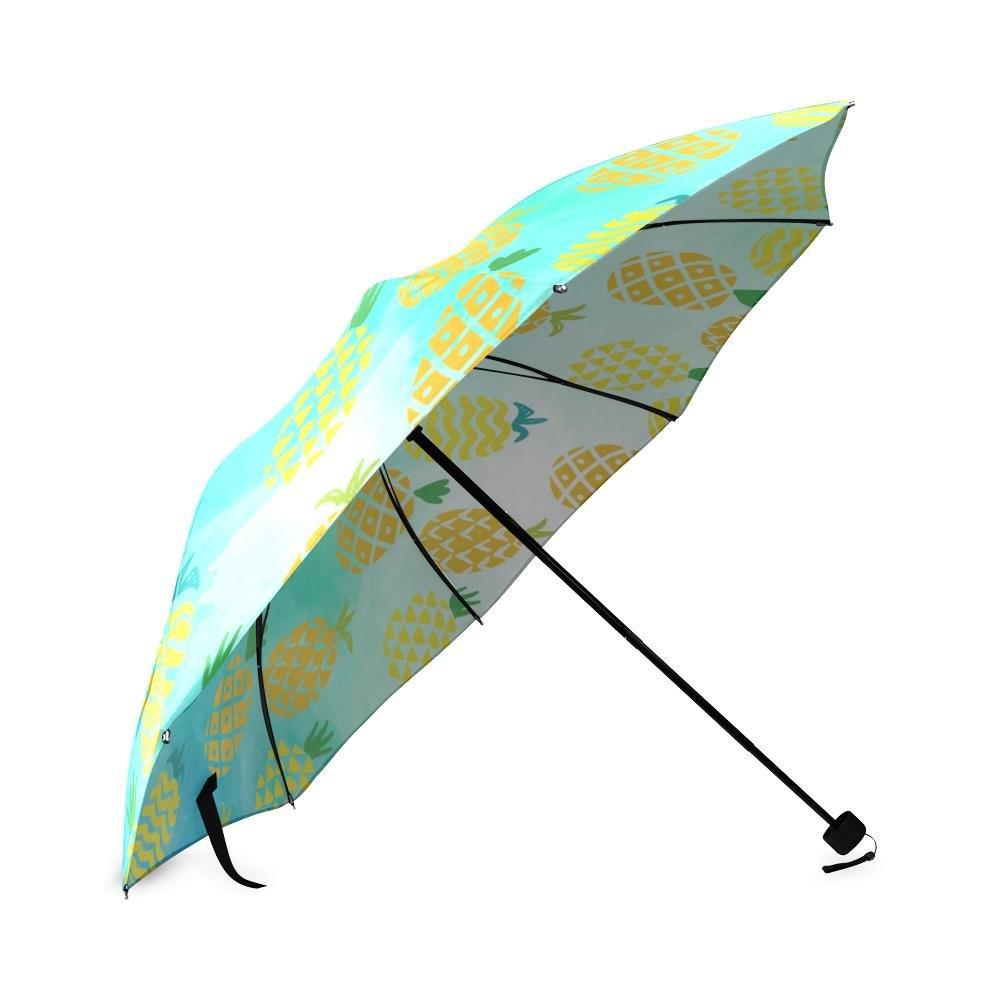 Amazon.com: RAIN pineapple Foldable Umbrella Sun Travel Umbrella Frabic 100% Polyester: Sports & Outdoors