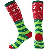 Christmas Socks, Gmall Christmas Cartoon Novelty Cotton Soft Cute Holiday Crew Socks for Women and Men