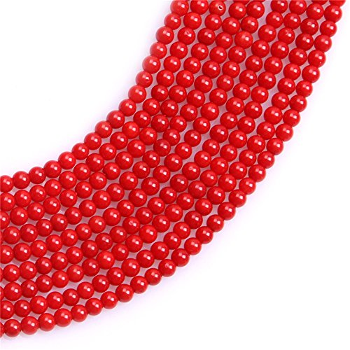 Red Coral Seed Beads for Jewelry Making Gemstone Semi Precious 3mm Round 15