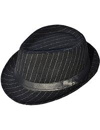 de903bec214 Men s   Women s Manhattan Structured Gangster Trilby Wool Fedora Hat Black