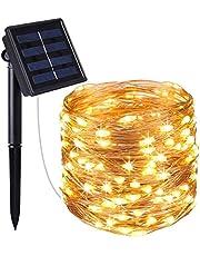 Komak LED Solar String Lights Outdoor 72ft 200 LED Solar Powered String Fairy Tree Light with 8 Lighting Modes,Waterproof,Indoor Lighting for Home,Garden,Decoration etc.
