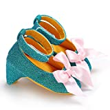 LooBooShop Newborn Baby Girl High Heels Soft Sole Toddler Bow Pompom Princess Crib Shoes Baby Girl Shoes