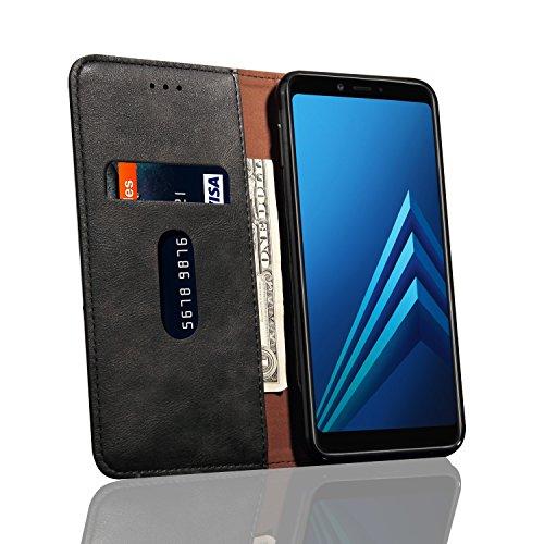 2018 Plus Pour Pu Rabat Téléphone Etui Case De Téléphone Etui A8 Protection Housse A8 En Protection à Etui Couverture Leather Cellulaire Coque Samsung Business Pour Galaxy Cuir Pour Plus nYvfqddx