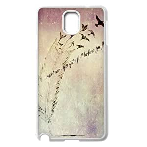 Feather Quote Fly Customized Cover Case for Samsung Galaxy Note 3 N9000,custom phone case ygtg615829