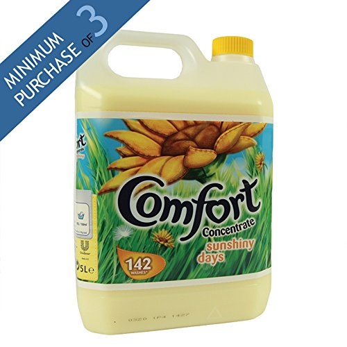 Comfort Fabric Conditioner Concentrate Sunshiny Days, 5 Litre / 142 Wash (pack of 3)