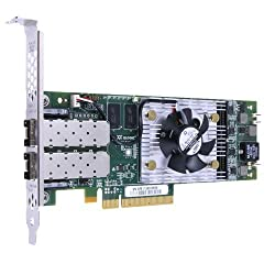 QLogic QLE8242-CU Dual Port 10GbE PCIe FCoE & iSCSI Converged Network Adapter with Empty SFP+ Cage