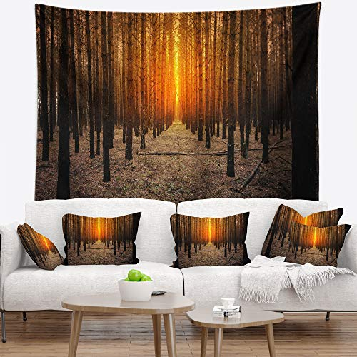 Designart TAP11600-80-68 'Halloween Themed Spooky Dark Forest Blanket Décor Art for Home and Office Wall Tapestry, x Large: 80