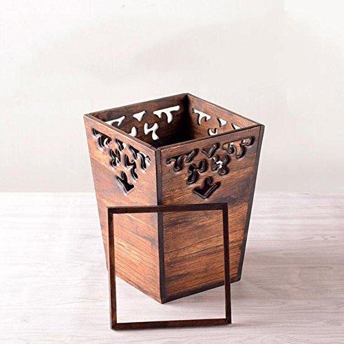 Retro wooden trash cans,Creative home living room bedroom ki