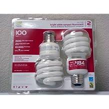 EcoSmart 23-Watt (100W) Bright White CFL Light Bulbs (2-Pack)