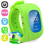 TURNMEON Smart Watch Phone for Kids Boys Girls GPS Children Fitness Tracker Smartwatch Birthday Gifts with SIM Calls Anti-lost SOS Voice Chat Bracelet Wrist Watch for Travel Camping Android iOS APP