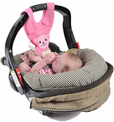 (Baby Bottle Holder for Hands Free Bottle Feeding by Bebe Bottle Sling,)