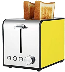 Yalztc-zyq16 Multi-function Bread Machine Home Stainless Steel Automatic Small Toaster Breakfast Spit Driver Heating Machine Bread Machine, Red (Color : Yellow)
