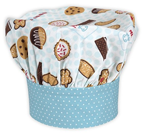Handstand Kitchen Child's 100% Cotton 'Milk and Cookies' Adjustable Band Chef's Hat