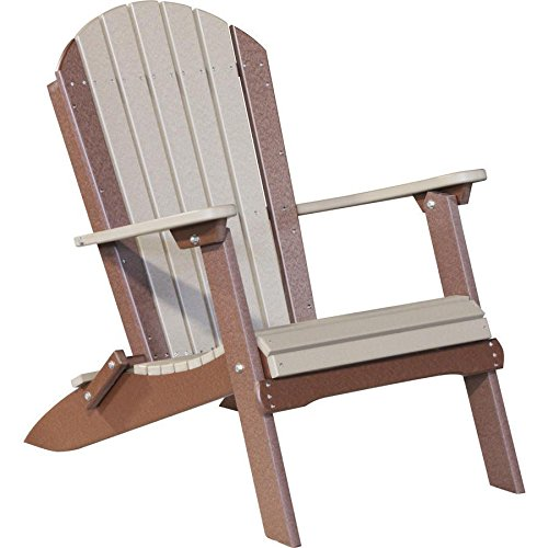 LuxCraft Recycled Plastic Folding Adirondack Chair (Plastic Folding Chairs Adirondack)