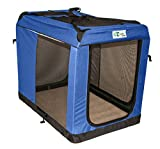GoGo Pet 3-Door Soft Dog Crate, XLarge, 48″ Long x 32.25″ Wide x 38.5″ High – Royal Blue For Sale