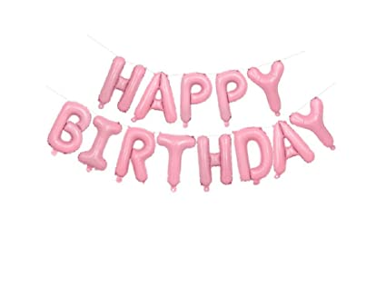 Image Unavailable Not Available For Color EBTOYS Happy Birthday Balloons Banner Foil Letters