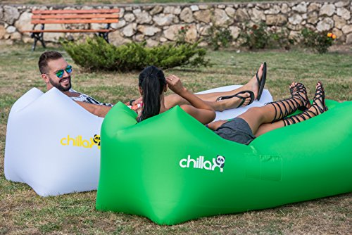 chillax inflatable lounger hammock best air lounger for travelling camping hiking ideal. Black Bedroom Furniture Sets. Home Design Ideas