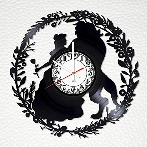 Beauty and the Beast Vinyl Record Wall Clock - Get unique gifts presents for birthday, Christmas, ideas for boys, girls, men, women, adults, him and her ()