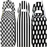 Outside the Box Papers Chevron, Stripe and Polka Dot Paper Gable Favor Boxes 36 Pack Black, White
