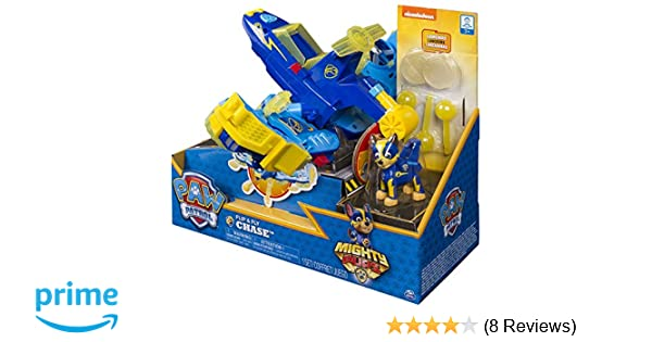 Amazon.com: PAW Patrol Mighty Pups - Chases Flip & Fly, 2-in-1 Transforming Vehicle with Launchers, Walmart Exclusive, for Ages 3 and Up: Toys & Games