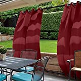 cololeaf Outdoor Curtains For Patio Extra wide Waterproof Curtain Panels Grommet at top and bottom For Porch, Gazebo, Pergola, Cabana, dock, beach home,Red 150W x 96L Inch (1 Panel)