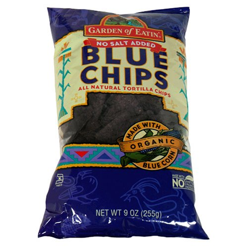 Garden of Eatin' Blue Corn Tortilla Chips, No Salt Added, 8.1 Ounce (Pack of 12) by Garden of Eatin'