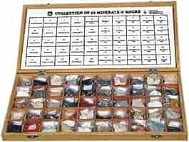 Colección 50 Rocas y Minerales, Empaque atractivo para la educación.: Amazon.es: Industria, empresas y ciencia