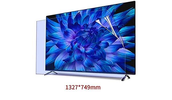 BYCDD 60 Pulgadas Light Anti-Azul TV Protectores de Pantalla, Anti-Glare Reducción De Radiación Antiarañazos Eye Protection para LCD, LED, OLED y QLED 4K HDTV,1338x756mm: Amazon.es: Hogar