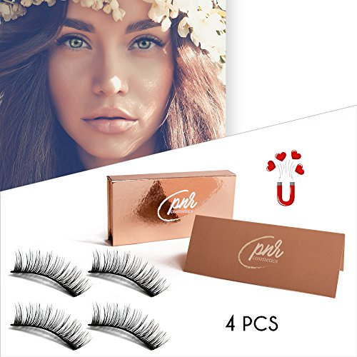 Magnetic Eyelashes Double Magnet Ultralight False Eye Lashes No Glue Premium Quality Soft and 3D Effect Silk Eyelash 4 Piece Full Strip New Style Trim Silk Top