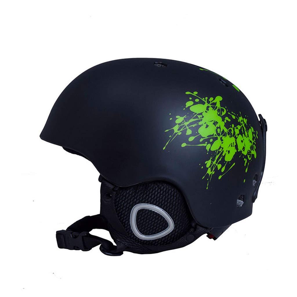 BLUEDYYY Skihelm Schnee Helm Skateboard Ski-Schutz-Fahrrad/Skateboard-Helm für Erwachsene Pendler Fahrrad Skate Breathable Bequem für Outdoor-Baseball,G,S