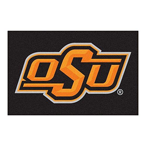 FANMATS NCAA Oklahoma State University Cowboys Nylon Face Starter Rug