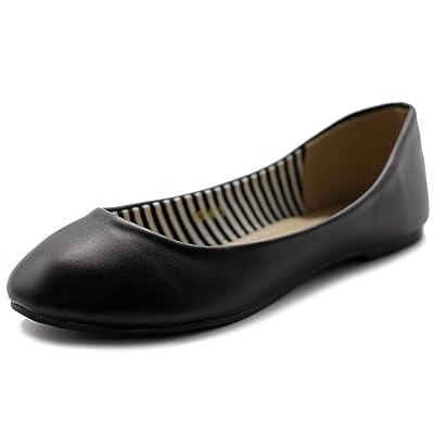 Ollio Women's Shoe Ballet Basic Light Comfort Round Toe Flat | Flats