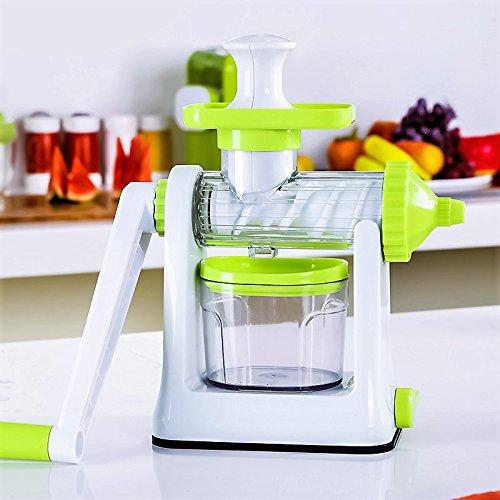 Edofiy Manual Hand Crank Single Auger Health Juicer,Fruit & Vegetable Juice Extractor Manual Wheatgrass Juicer