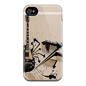AMY KS Case Cover Protector Specially Made For Iphone 4/4s Abstract Guitar
