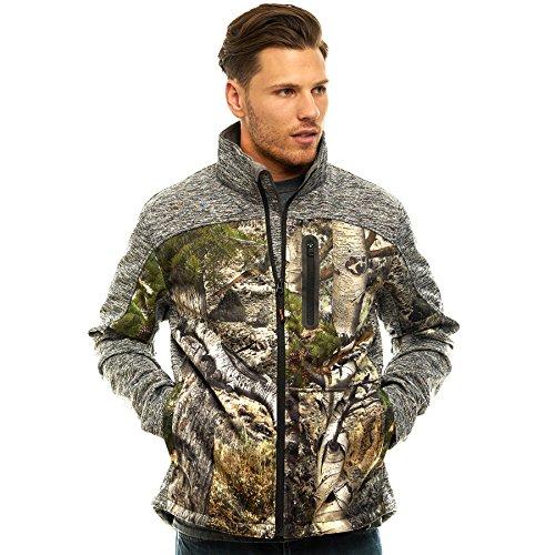 TrailCrest Men's Thermal Softshell Jacket, Mossy Oak Camo Patterns ()