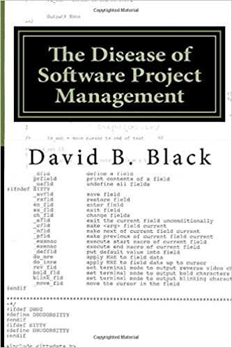 Book The Disease of Software Project Management: Project Management is a Disaster for Software: Volume 1 (Building Better Software Better)