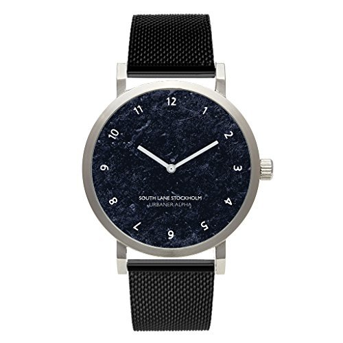 South Lane 'Urbaner Alpha' Quartz Stainless Steel and Leather Casual Watch Color:White (Model: W17_Classic_76) [並行輸入品] B078B8P66M