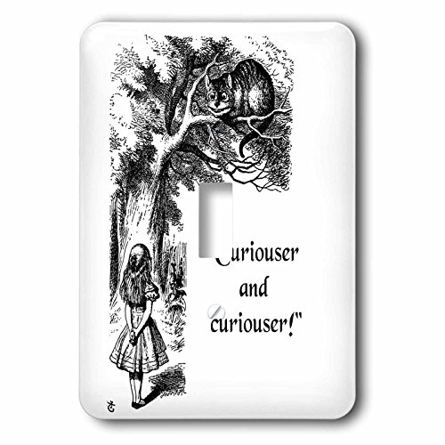 Curiouser And Curiouser - Alice In Wonderland Lewis Carroll Quote - Single Toggle Switch ()