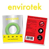 EnviroTek Insect Repelling Wristband Box of 10: Assorted Colors - No DEET!