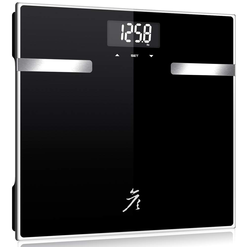 danniboom Digital Body Fat Scale Body Weight Scale Bathroom Scale with Glass Top, 400 lb/180kg Capacity, 12 Users Auto Recognition, Measures Weight, Body Fat, Water, Muscle, Bone and Calorie
