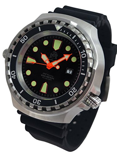 - XXL 52mm - 1000m -Military diver watch Tauchmeister with sapphire glass and helium velve T0300