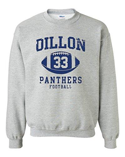 Retro Crewneck Sweatshirt - Dillon 33 Football Retro Sports DT Novelty Crewneck Sweatshirt (Small, Sports Gray)