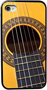 Rikki KnightTM Guitar Design iPhone 4 & 4s Black Case Cover (Black Rubber with bumper protection) for Apple iPhone 4 & 4s by runtopwell