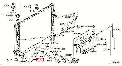 Infiniti Genuine Radiator Shroud & Inverter Cooling Lower Hose 21503-1CB0A QX70/FX M37/56 M HYBR ()